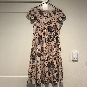 Loft Outlet Blush Floral Midi Dress